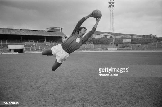 English goalkeeper Bryan King in action during training with Millwall FC UK 8th July 1969