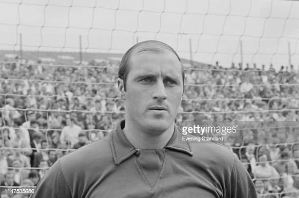 English goalkeeper Peter Springett of Sheffield Wednesday FC UK 11th September 1969