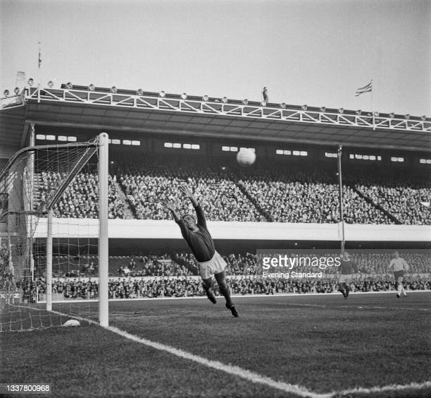 English goalkeeper Tony Burns of Arsenal FC during a League Division One match against Sheffield United at Highbury Stadium in London, UK, 6th...