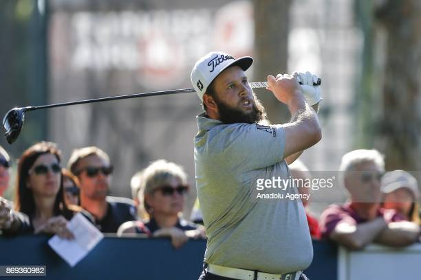 English golfer Andrew Johnston in action during Turkish Airlines Open 2017 Golf Tournament in Antalya Turkey on November 02 2017