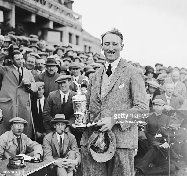 English golfer Arthur Havers wins the British Open Championship at Troon, June 1923.