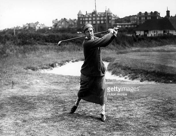 English golfer Cecil Leitch taking part in the English Ladies Golf Championship at Sheringham Original Publication People Disc HH0142