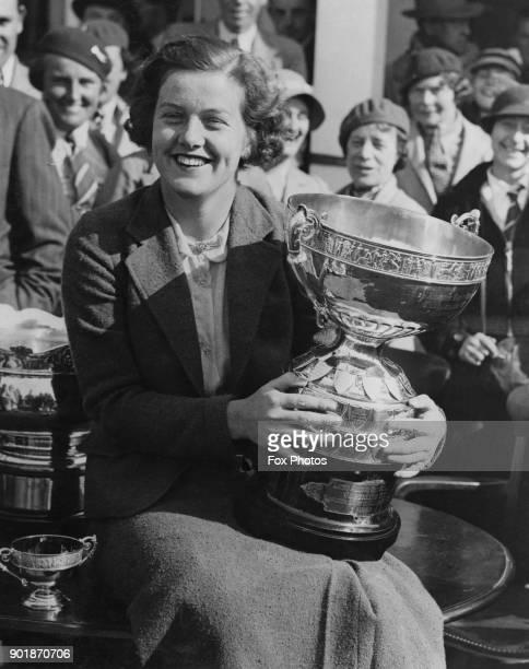 English golfer Pamela Barton after winning the British Ladies' Amateur Golf Championships, UK, 1936.