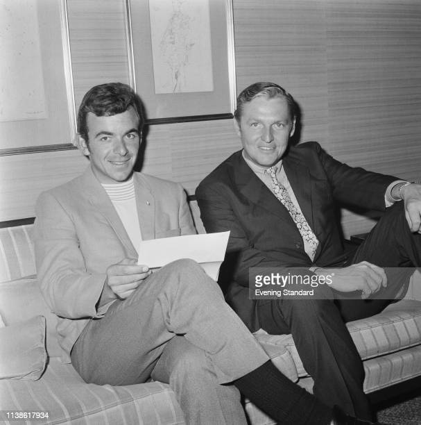 English golfer Tony Jacklin and American lawyer, sports agent and writer Mark McCormack , UK, 4th July 1969.