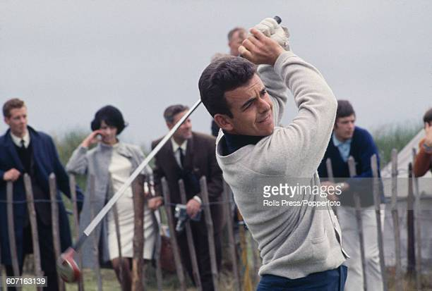 English golfer Tony Jacklin competes in the second round of The 1968 Open Championship at Carnoustie Golf Links in Scotland on 11th July 1968.