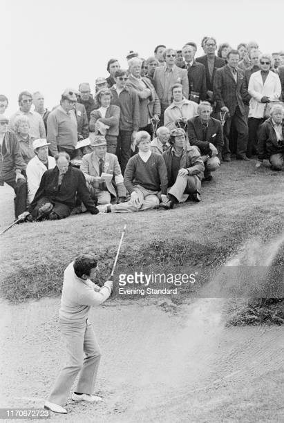 English golfer Tony Jacklin in action during a tournament, UK, 3rd June 1976.
