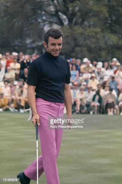 English golfer Tony Jacklin pictured in action to finish in joint 12th place at the 1970 Masters Tournament at Augusta National Golf Club in Augusta,...