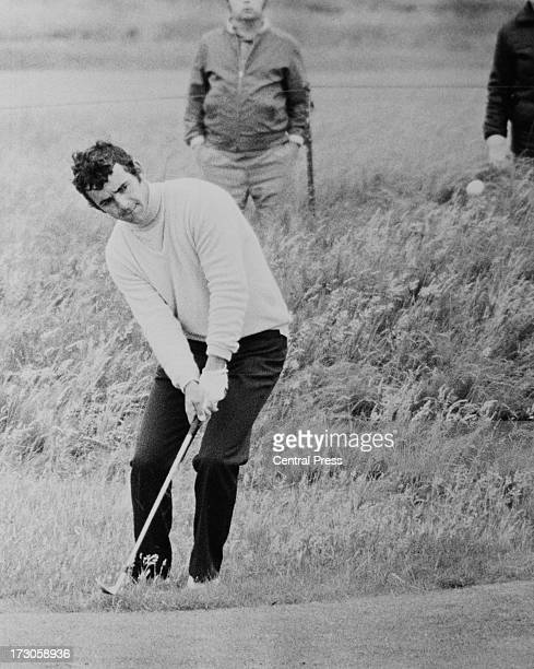 English golfer Tony Jacklin pitching to the 17th hole during the first round of the Open Championship at Muirfield Golf Links East Lothian Scotland...