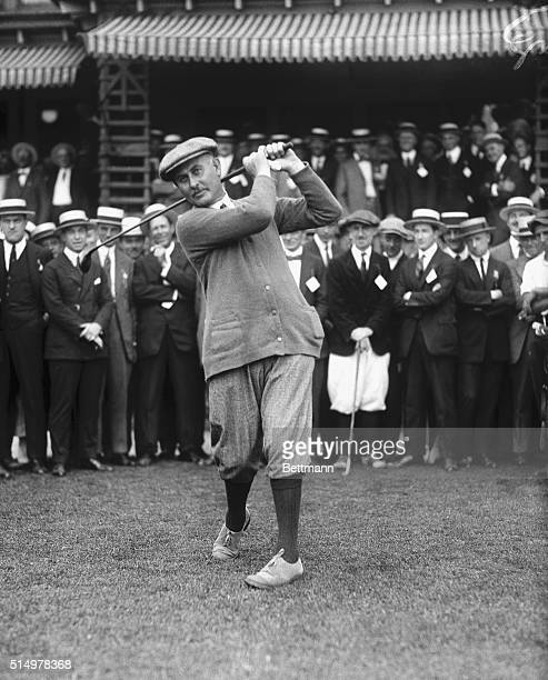 English Golfers Hang Up Another Victory Harry Vardon of England six times open champion of England and his burly partner also of England Ted Ray hung...