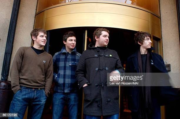 AMSTERDAMNETHERLANDS DECEMBER 06 English group Arctic Monkeys posed in Amsterdam Netherlands on 6th December 2005 Left to right Jamie Cook Matt...