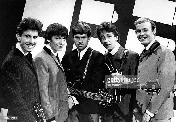 English group The Hollies posed on Ready Steady Go TV show in London on 15th May 1964 LR Graham Nash Allan Clarke Eric Haydock Tony Hicks and Bobby...