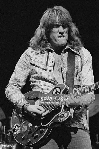 English guitarist Alvin Lee performing with bluesrock band Ten Years After April 1974