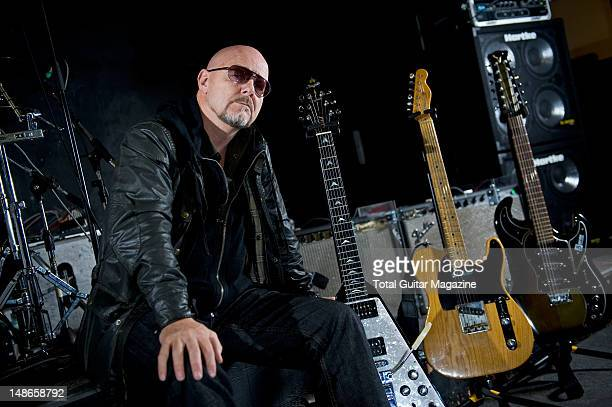 English guitarist and Songwriter Andy Powell best know as one of the founding members of rock band Wishbone Ash Photographed during a shoot for Total...