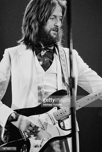 English guitarist Eric Clapton performing at the Rainbow Theatre in London 13th January 1973 The concert with an allstar lineup was organized by Pete...
