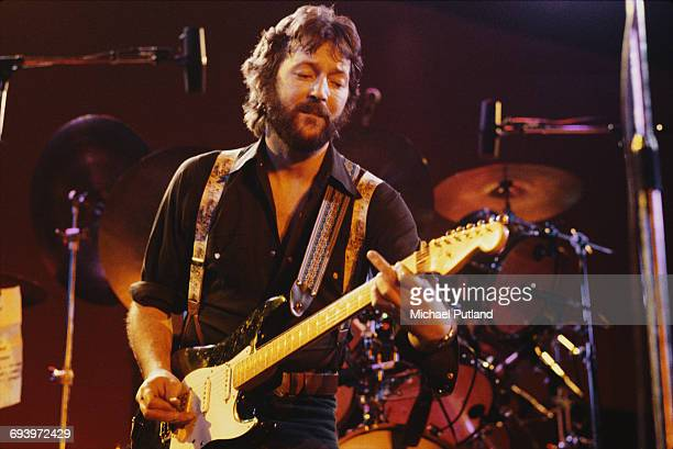 English guitarist Eric Clapton performing on stage 1975