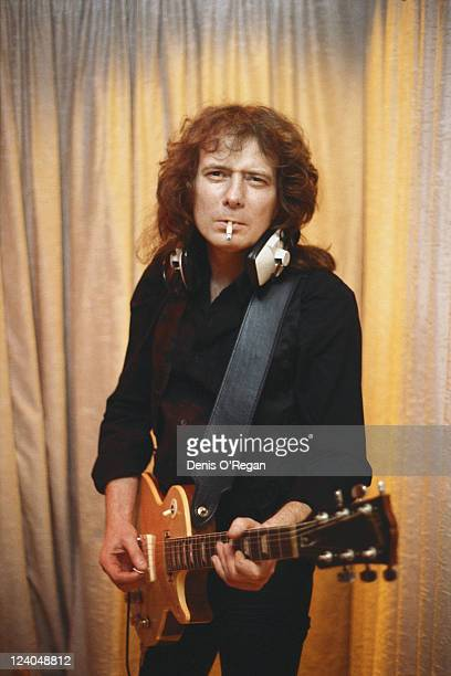 English guitarist Fast Eddie Clarke of Motorhead circa 1983