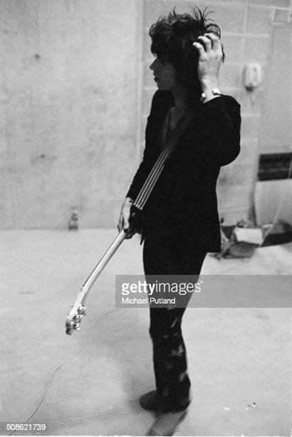 English guitarist Keith Richards of the Rolling Stones about to go on stage Munich Germany 1973