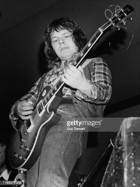English guitarist Paul Kossoff performing with his band Back Street Crawler, 1975.