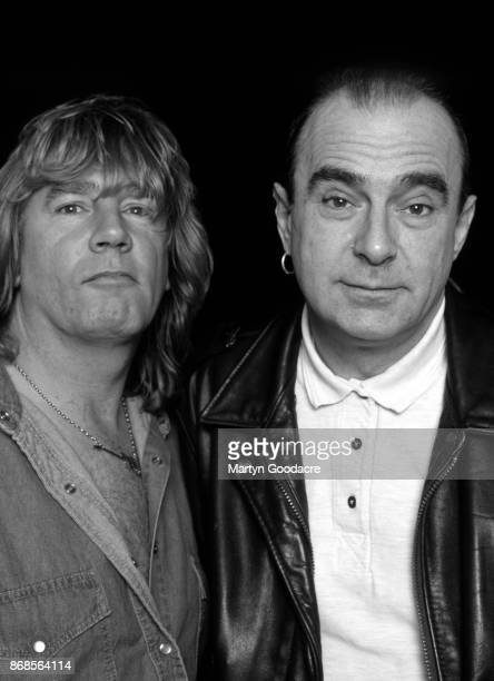 English guitarist Rick Parfitt and singer Francis Rossi of rock group Status Quo Brighton 1996