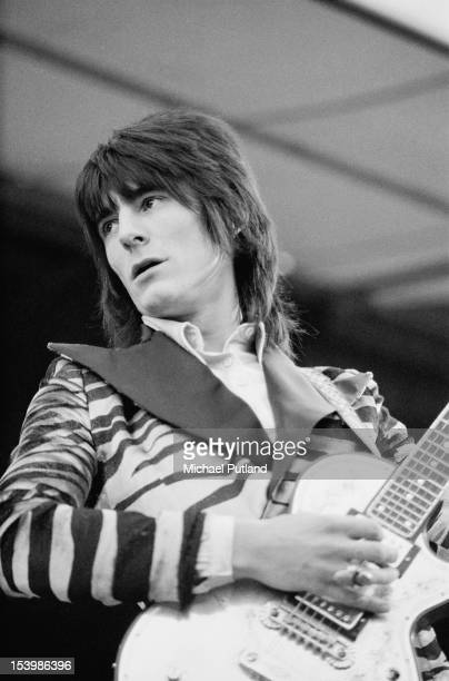 English guitarist Ronnie Wood in concert with Faces during Rock At The Oval in London 18th September 1971