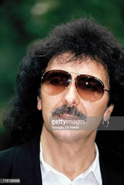 English guitarist Tony Iommi of Black Sabbath attends a photocall for the release of the gold 'Earthquake Album' by the Armenian earthquake appeal...