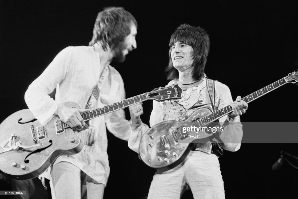 Pete Townshend And Ron Wood : News Photo