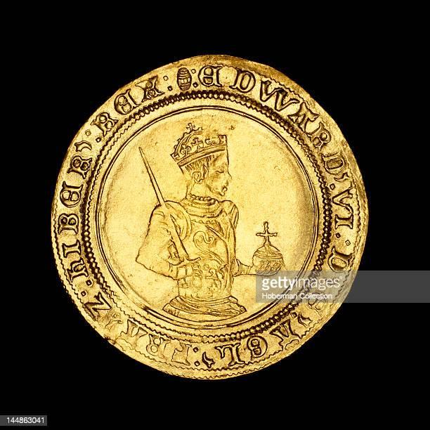 English hammered gold half sovereign, 1550Ð1553, Edward VI