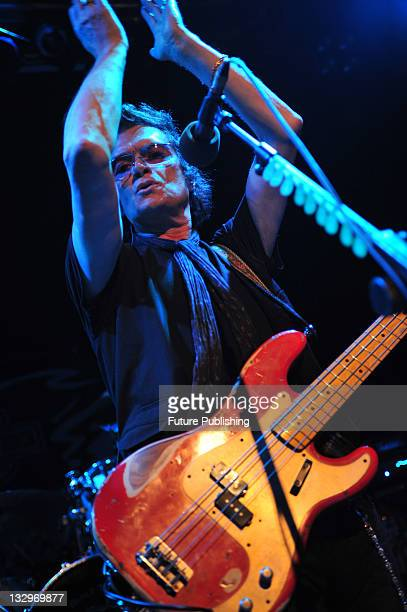English hard rock musician Glenn Hughes performing live on stage with his band at the Islington O2 Academy in London, taken on October 5, 2010.