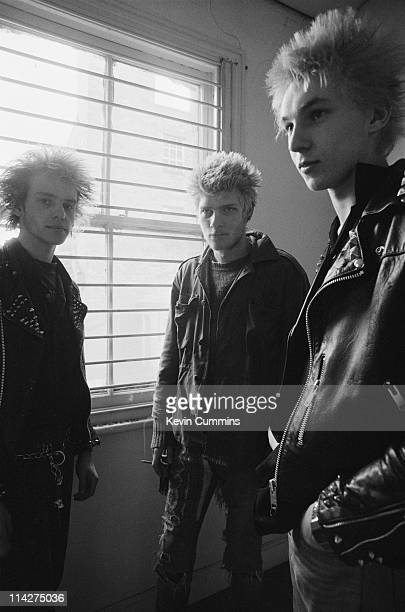 English hardcore punk group Discharge in their home town of StokeonTrent Staffordshire May 1981
