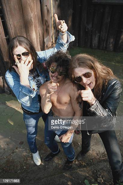 English heavy metal group Motorhead France circa 1980 Left to right bassist and singer Lemmy drummer Phil 'Philthy Animal' Taylor and guitarist...