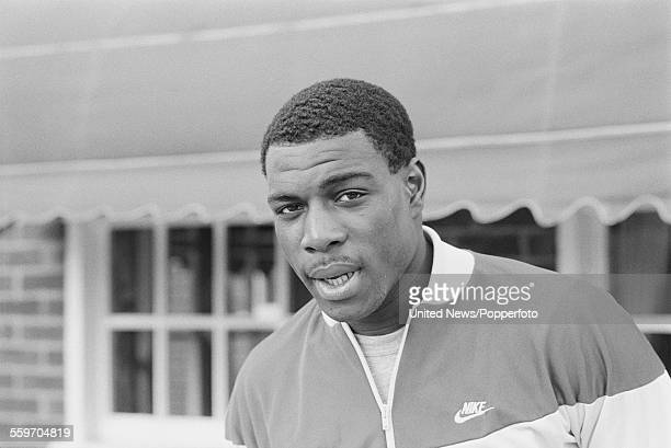 English heavyweight boxer Frank Bruno pictured in London on 2nd March 1984