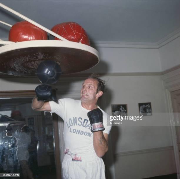 English heavyweight boxer Henry Cooper in training UK February 1971