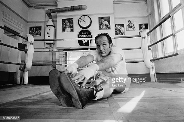 English heavyweight boxer Henry Cooper training at the Thomas A Becket gym London 8th December 1969