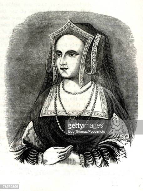 English History Kings and Queens Illustration pic circa 1545 Katherine Parr who married Henry VIII in 1543 and the only wife to survive him
