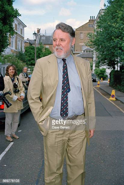 English humanitarian and author, Terry Waite, attending a garden party at the home of David Frost, June 1999.