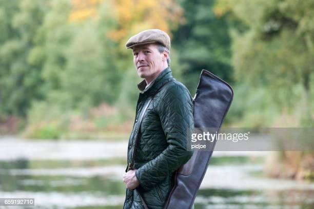 Engelse jager in traditionele kleding