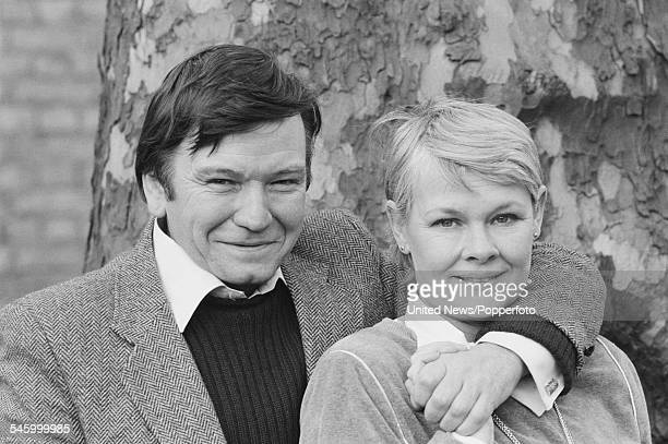 English husband and wife actors Michael Williams and Judi Dench who appear together in the television sitcom 'A Fine Romance' pictured in London on...