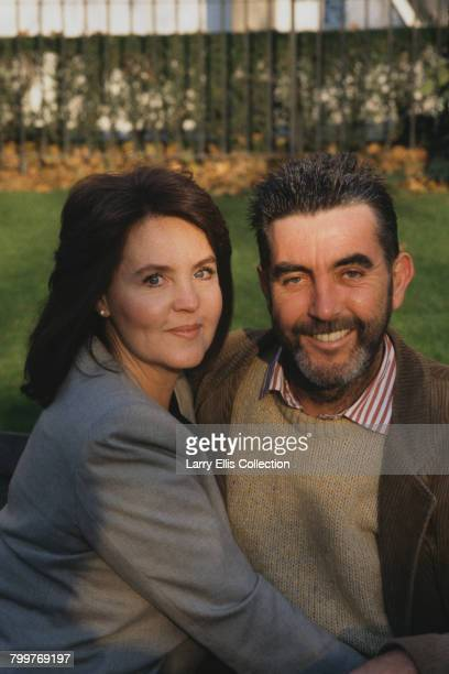 English husband and wife actors Pauline Collins and John Alderton pictured together on location during filming of the London Weekend Television drama...