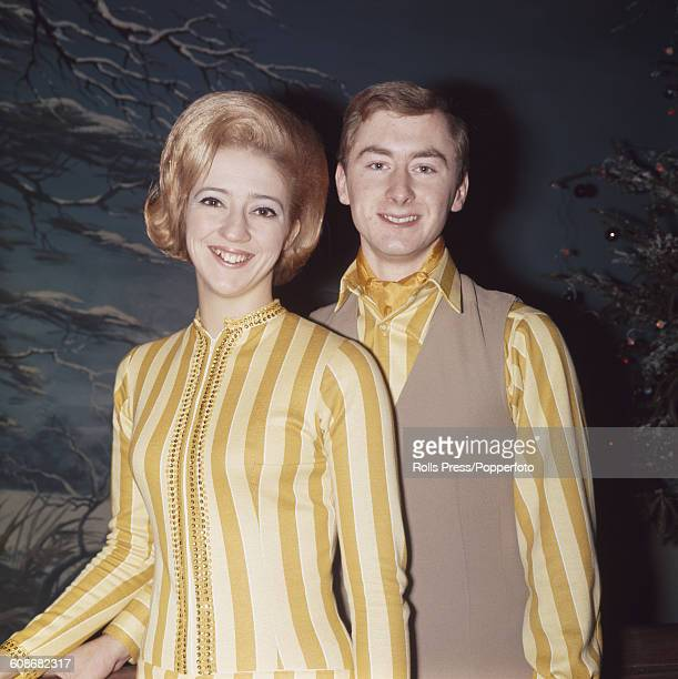 English ice dancers and World figure skating ice dance champions Diane Towler and Bernard Ford pictured together in London on 6th November 1968