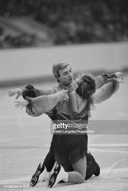 English ice dancers Jayne Torvill and Christopher Dean perform their 'Bolero' routine for the first time to win the gold medal in the Ice Dance event...