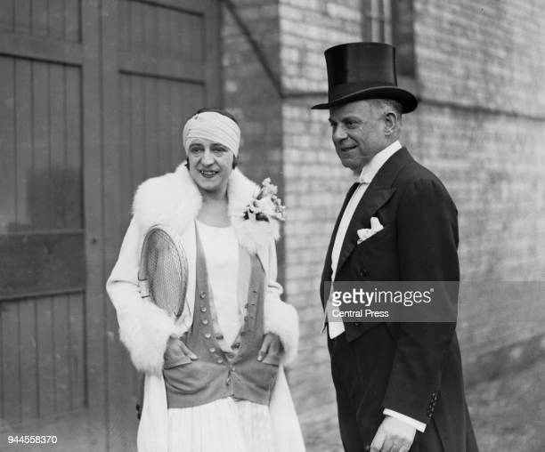 English impresario Charles B. Cochran with French tennis player Suzanne Lenglen , 1927.