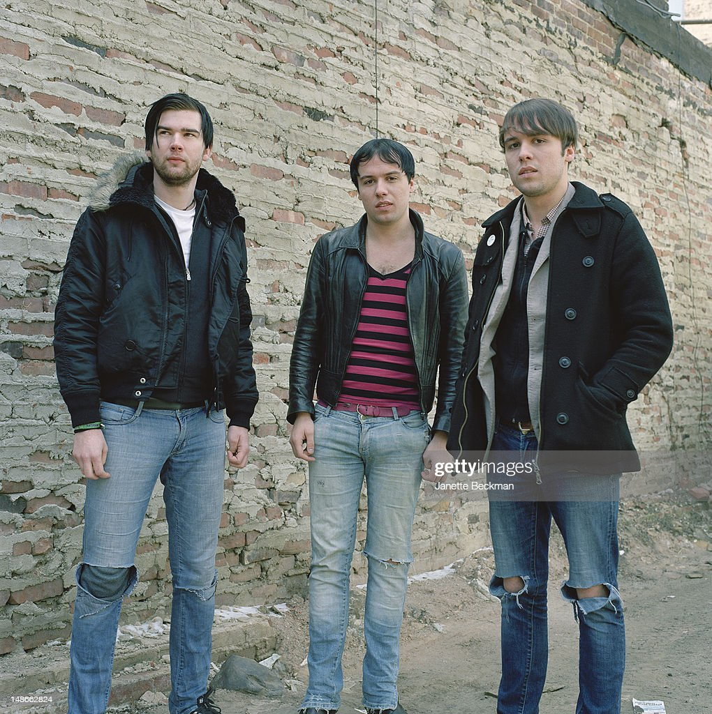 English indie rock group The Cribs, New York City, 2006.