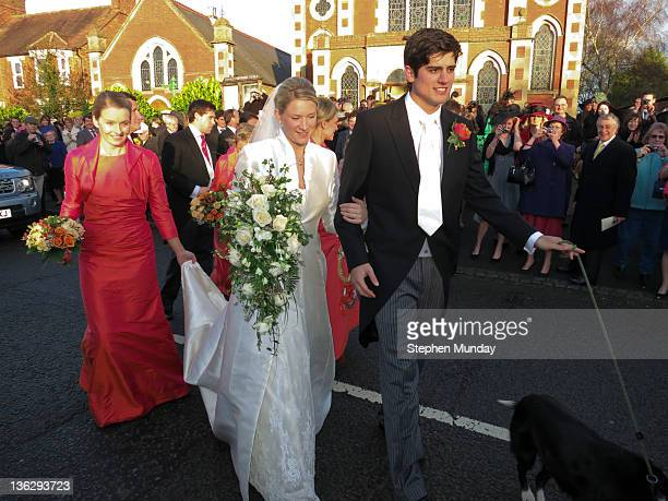 English international cricketer Alastair Cook gets married on New Year's Eve to Alice Hunt at Stewkley Methodist Church on December 31 2011 in...