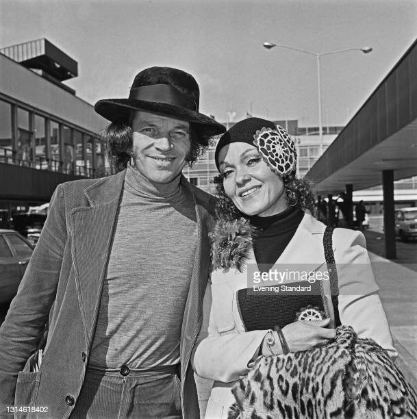 English jazz composer and musician John Dankworth with his wife, jazz singer Cleo Laine, UK, 18th March 1974.
