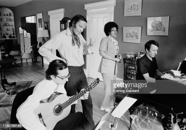 English jazz composer, saxophonist, clarinetist and writer John Dankworth , English singer and actress Cleo Laine, English composer of film, TV and...