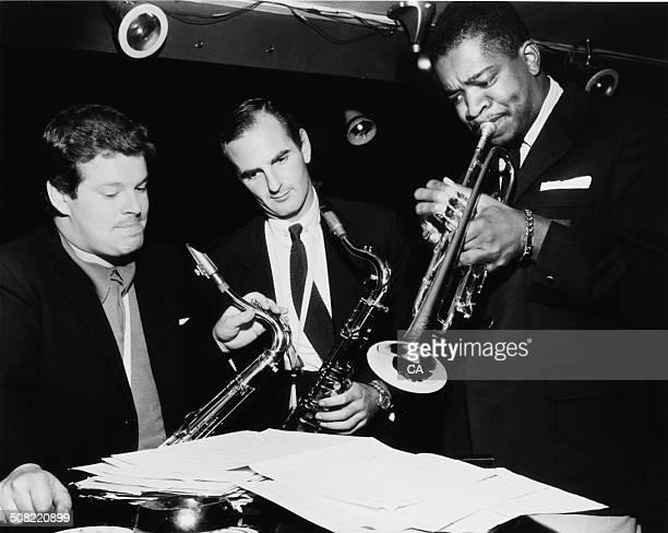 English jazz multiinstrumentalist Edward Brian Tubby Hayes English jazz tenor saxophonist and jazz club owner Ronnie Scott and American jazz and...