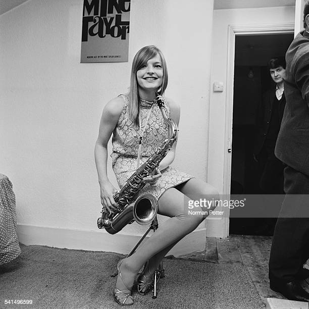 English jazz saxophonist Barbara Thompson of allgirl group 'The She Trinity' leaves the band after refusing to wear scant clothing for a television...