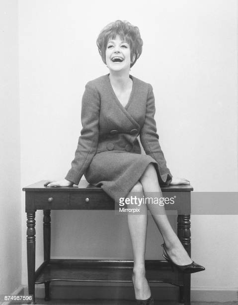 English jazz singer and actress Annie Ross who is the star at the Establishment Club in London in place of American comedian Lenny Bruce who was sent...