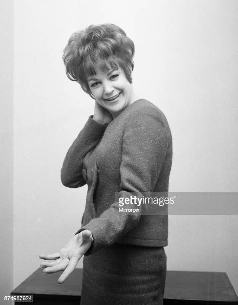 English jazz singer and actress Annie Ross, who is the star at the Establishment Club in London in place of American comedian Lenny Bruce who was...
