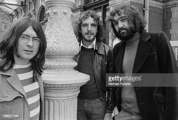 English jazzrock trio Back Door 15th May 1973 Left to right saxophonist Ron Aspery bassist Colin Hodgkinson and drummer Tony Hicks